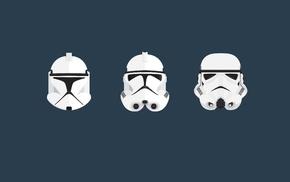 Star Wars, clone trooper, helmet, stormtrooper, minimalism