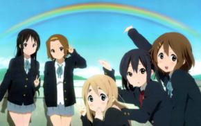 schoolgirls, anime girls, Kotobuki Tsumugi, Akiyama Mio, Hirasawa Yui, K