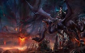 magic, fantasy art, dragon