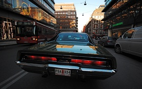 Dodge, street, 1969 Dodge Charger RT, city, car