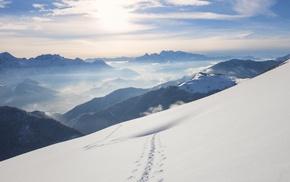 landscape, Austria, mountain, nature, Windows 10, snow