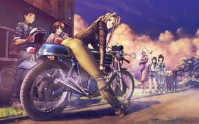 Ah My Goddess, motorcycle, anime girls