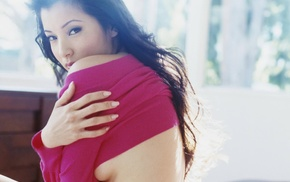 Chinese, American, Kelly Hu, actress, martial arts, almond eyes
