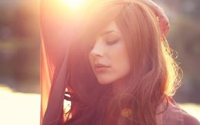 portrait, face, redhead, girl, Julia Coldfront