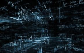 science, equations, 3D, mathematics