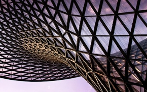 architecture, triangle, building, abstract, modern, glass