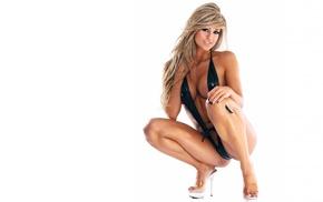 bikini, high heels, blonde, Laura Michelle Prestin, model, girl