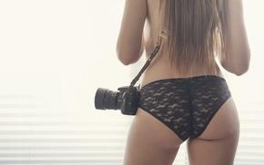 girl, model, camera, ass