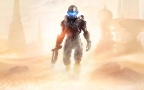 Halo, video games, Halo 5, artwork, Spartan Locke