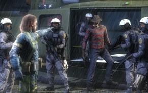 artwork, Metal Gear Solid, crossover, Freddy Krueger, Metal Gear Solid V Ground Zeroes