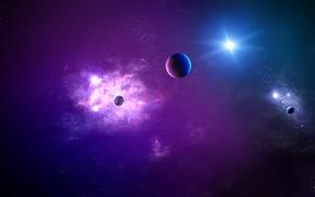 space, artwork, digital art, planet, fantasy art, stars