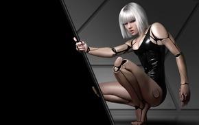 bionics, cyborg, girl, artwork, digital art, androids
