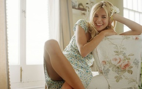 upskirt, actress, dress, Sienna Miller, blonde, girl