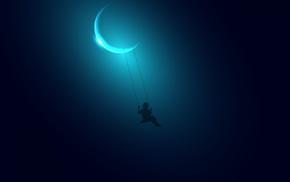 swings, moon