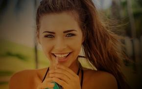 face, people, sandra kubicka, smiling, model, brunette