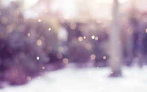 circle, blurred, bokeh, snow, lights