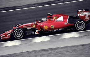 Ferrari F1, SF15 T, Kimi Raikkonen, black and red, sports, race cars