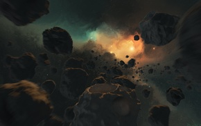 asteroid, space, universe
