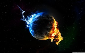 space art, fire
