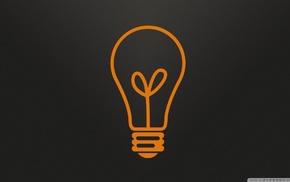 light bulb, minimalism, logo