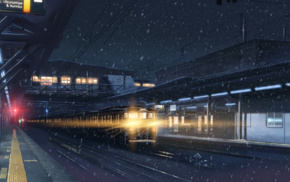 5 Centimeters Per Second, anime, train station