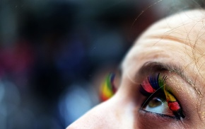 blurred, looking up, closeup, colorful, eyes, macro