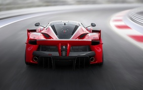 Ferrari FXXK, race tracks, car, motion blur