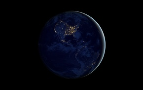 planet, space, night, Solar System, Earth