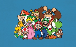 video games, Mario Bros., Toad character, Donkey Kong, Luigi, Yoshi