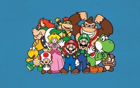 video games, Mario Bros., Toad character, Donkey Kong, Luigi, Yoshi