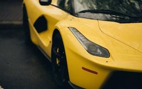 Ferrari, Hybrid, yellow cars, car