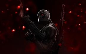 Deadpool, mask, weapon, concept art, sword