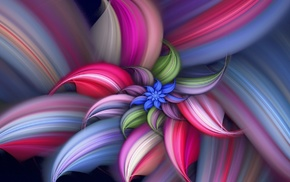digital art, flowers, colorful, minimalism, fractal, spiral