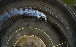 drift, smoke, race cars