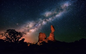 sky, night, stars, Milky Way, space