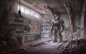 Fallout 4, concept art, armor, Fallout, video games, Brotherhood of Steel