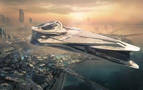 spaceship, concept art, space, Star Citizen, video games, science fiction