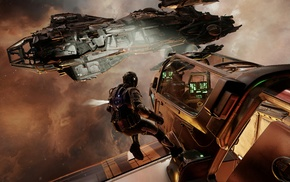 spaceship, space, Star Citizen, video games, science fiction, concept art