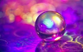 bubbles, macro, colorful, bokeh