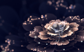 fractal flowers, digital art, fractal, CGI