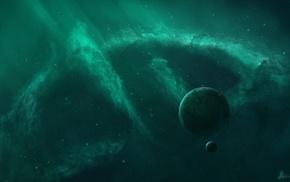 nebula, space art, planet, JoeyJazz