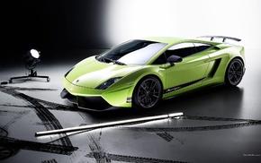 green cars, car, Lamborghini, Lamborghini Gallardo Superleggera LP570, Italian Supercars