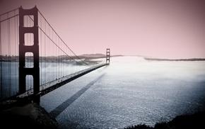 urban, bridge, city, Golden Gate Bridge, river