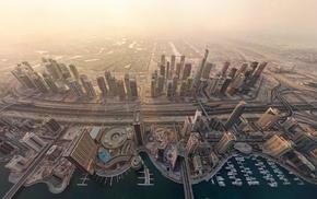 aerial view, Dubai, cityscape, city, urban
