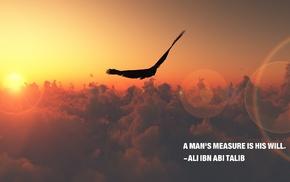 Imam, Islam, sunset, sunrise, eagle, clouds