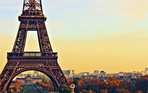 landscape, Paris, city, sunset, cityscape, architecture
