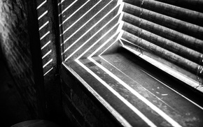depth of field, lights, monochrome, window, curtains