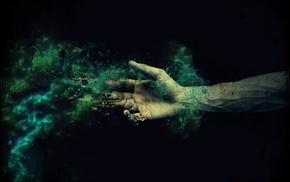 fantasy art, photography, hand, veins, photo manipulation, abstract