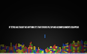 errors, minimalism, video games, Tetris