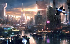 Remember Me, city, video games, concept art, futuristic, cityscape